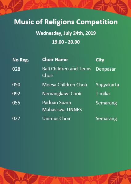 Bandung Choral Society | 8th Bali International Choir Festival 2019